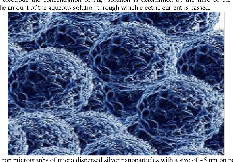 Figure 5. Electron micrographs of colloidal silver with a size of 5 nm (Darroudi et al., 2011)