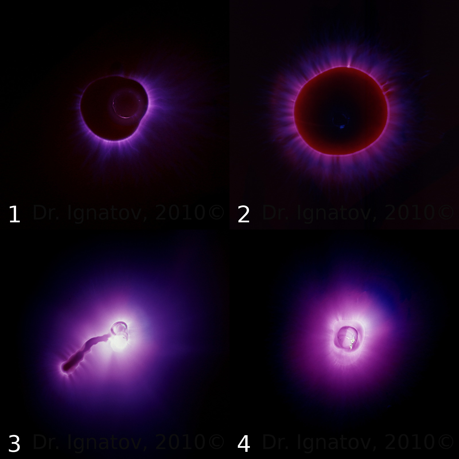 Kirlian Photography Of Water Samples On Photographic Film